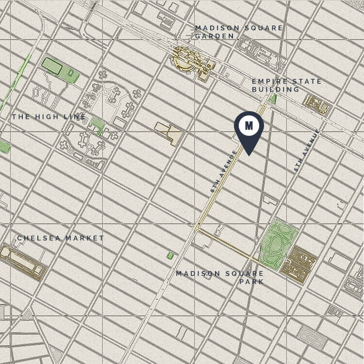 Map of MADE Location in New York City